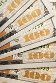 Fanned United State Hundred Dollar Bills