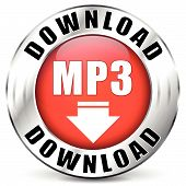 Vector Mp3 Red Icon