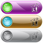 Home affiance. Vector internet buttons.