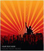 DJ jubelnde Publikum