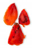 Colorful Charred Roasted Red Sweet Pepper
