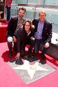 LOS ANGELES - MAY 9:  Jason Thompson, Rick Springfield, Doug Dvidson at the Rick Springfield Hollywood Walk of Fame Star Ceremony at Hollywood Blvd on May 9, 2014 in Los Angeles, CA
