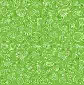 picture of water cabbage  - vector pattern of seamless background with vegetables - JPG