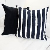 Striped Cushion On A Sofa