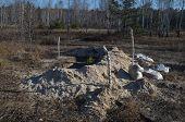 KIEV, UKRAINE - OCTOBER 26: Abandoned trenches on October 26, 2014 in Kiev,