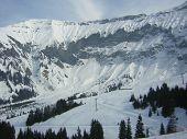 Los Alpes. Gran montaña.