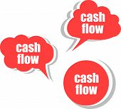 Cash Flow. Set Of Stickers, Labels, Tags. Business Banners, Template For Infographics
