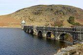 Craig Goch Reservoir And Dam Arches, Elan Valley Wales Uk.