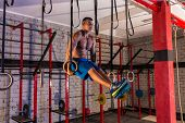 dip ring girl man muscle ups rings workout at gym