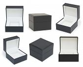 Black Boxes Collection  On White Background