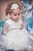 Little girl in an elegant dress