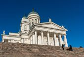 HELSINKI, FINLAND - OCTOBER 18, 2014: Helsinki Cathedral , the Finnish Evangelical Lutheran cathedral of the Diocese of Helsinki, Finland. It was also known as St Nicholas' Church until 1917