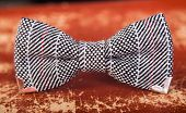 Bow Tie With A Black And White Pattern
