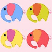 Colored Handmade Elephants