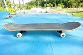 skateboard at skatepark