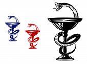 stock photo of scepter  - Medical symbol  - JPG