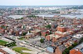 foto of paul revere  - Aerial view of Boston North End - JPG