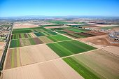 stock photo of southwest  - Agriculture from the air in the sunny southwest near Phoenix Arizona