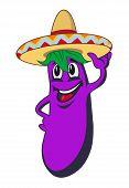 Cartoon eggplant