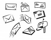 Envelopes and mail symbols
