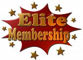 Elite Membership (red explosion with stars)