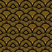 image of bohemian  - Vintage hand drawn art deco pattern with scale motifs - JPG