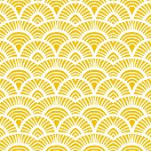 Yellow vintage hand drawn art deco pattern