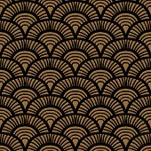 Brown vintage hand drawn art deco pattern