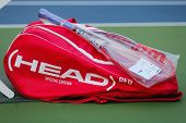 Customized Head tennis bag and Head tennis racket during US Open 2014