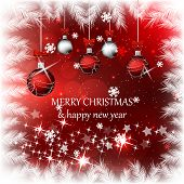 Christmas vector background with christmas balls