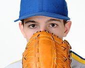 High school baseball pitcher
