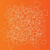Orange Geometric objects background