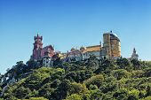 view of Palace da Pena. Sintra