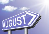 next august warm summer month with school vacation and travel time