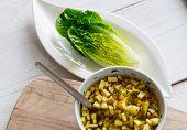 Romaine Lettuce Hearts With Mango Apple Vinaigrette