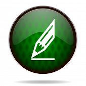 pencil green internet icon