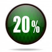 20 percent green internet icon