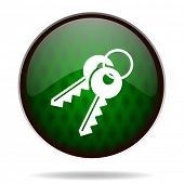 keys green internet icon