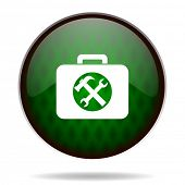 toolkit green internet icon