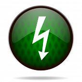 bolt green internet icon