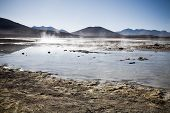 Lagoon at the Altiplano, Bolivia