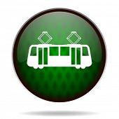 tram green internet icon