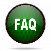 faq green internet icon