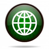 earth green internet icon