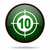 target green internet icon