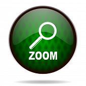 zoom green internet icon
