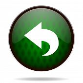 back green internet icon