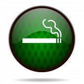 cigarette green internet icon