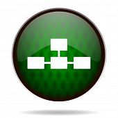 database green internet icon