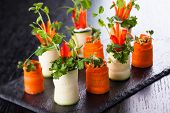 Raw Zucchini and Carrot Roll-Ups for holiday